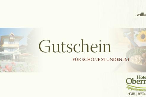 Gutschein Hotel Obermair