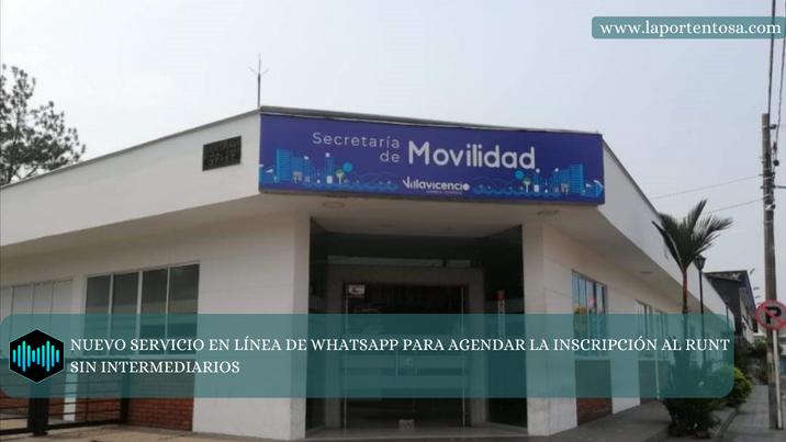 NUEVO SERVICIO EN LÍNEA DE WHATSAPP PARA AGENDAR LA INSCRIPCIÓN AL RUNT SIN INTERMEDIARIOS