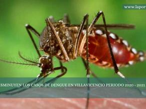 DISMINUYEN LOS CASOS DE DENGUE EN VILLAVICENCIO PERIODO 2020 - 2021