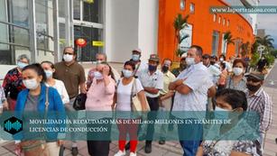 MOVILIDAD HA RECAUDADO MÁS DE MIL 400 MILLONES EN TRÁMITES DE LICENCIAS DE CONDUCCIÓN