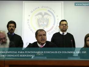 PRIMA ESPECIAL PARA FUNCIONARIOS JUDICIALES EN COLOMBIA, ABG. ESP. HENRY CHINGATÉ HERNÁNDEZ
