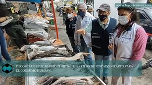 DECOMISAN EN EL BARRIO FLORENCIA 123 KILOS DE PESCADO NO APTO PARA EL CONSUMO HUMANO