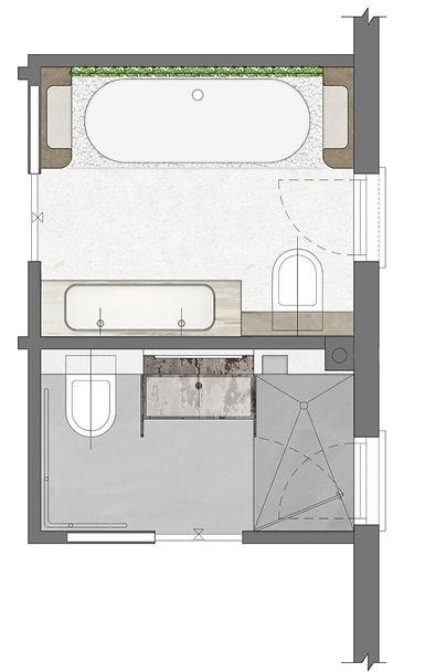 עיצוב חללים רטובים - תכנית