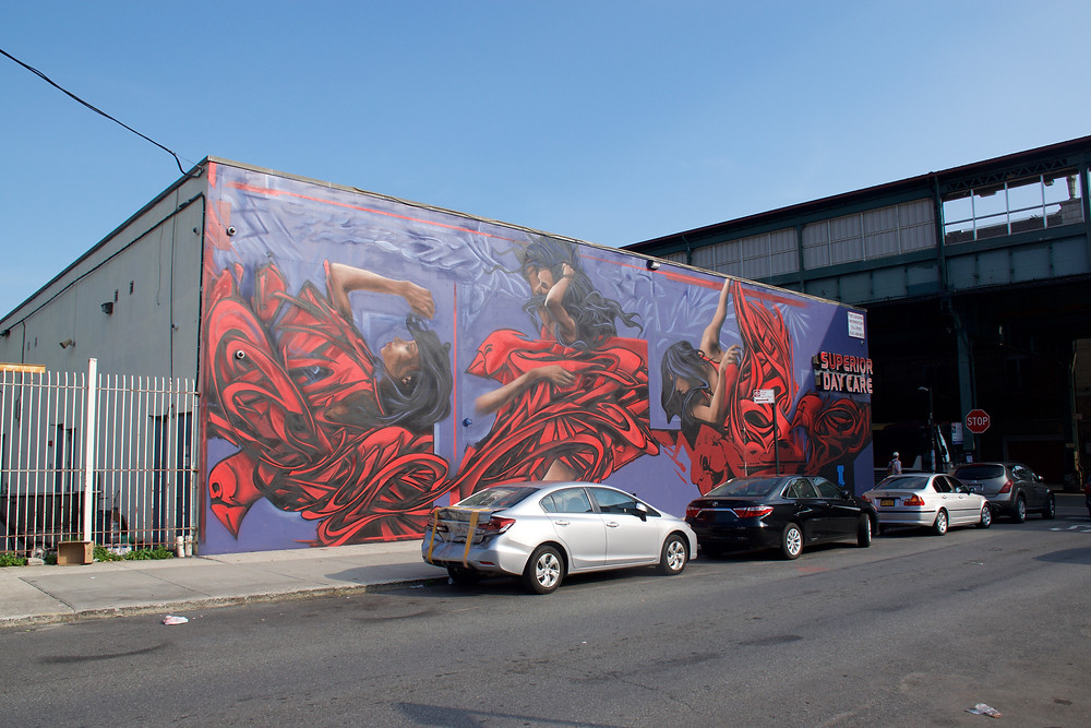 Zimer's Moffat & Broadway mural, 7 days later
