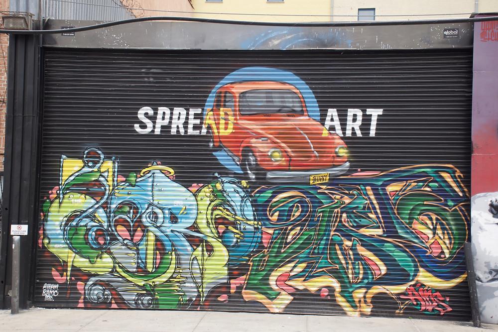 SpreadArtNYC sponsored gate as part of the Dodworth Street Series