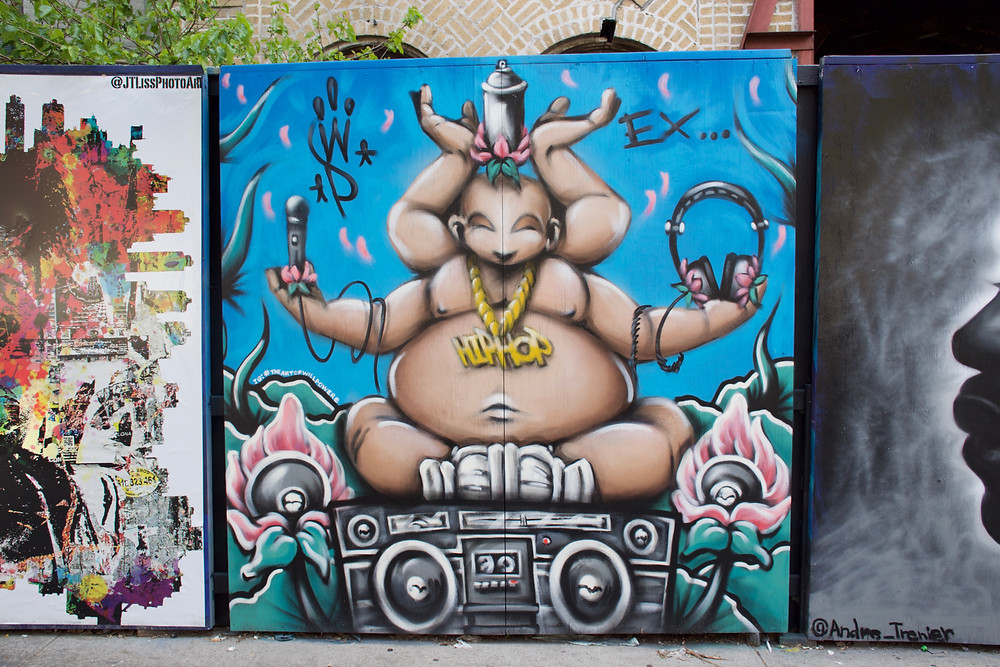 Hip-Hop Buddha for Underhill Walls By Will Power