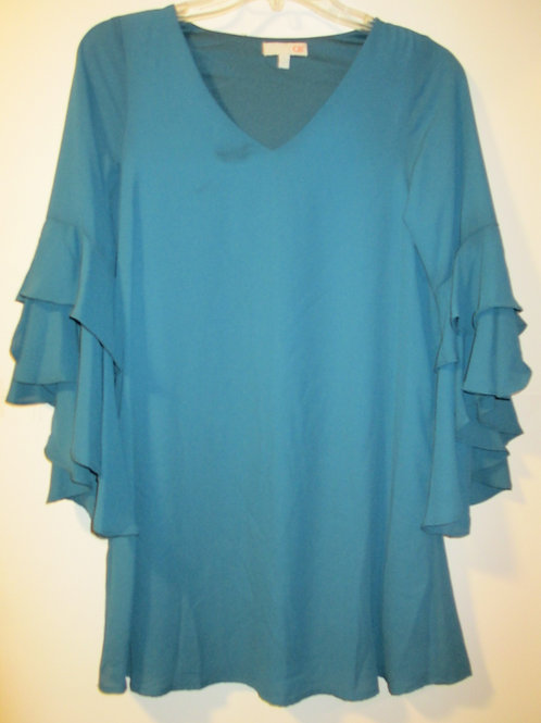 Ladies X-Small Heather Green Tunic Top