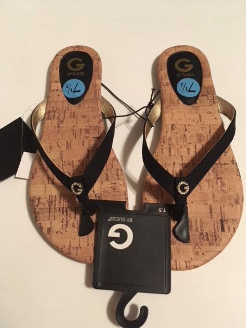 Ladies Size 7 1/2 Black Sandals