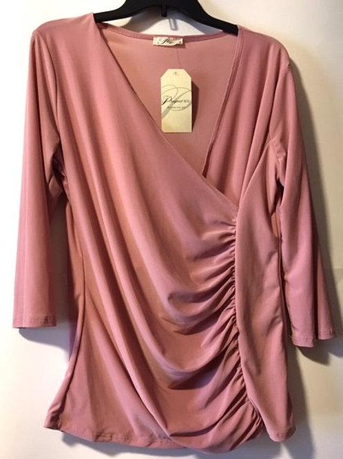 Ladies Size XL Pink 3/4 Sleeve Top