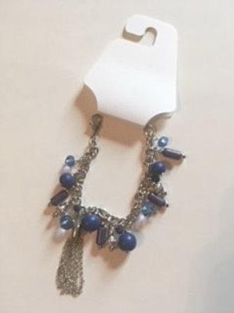 Ladies Blue & Silver Bracelet By Color