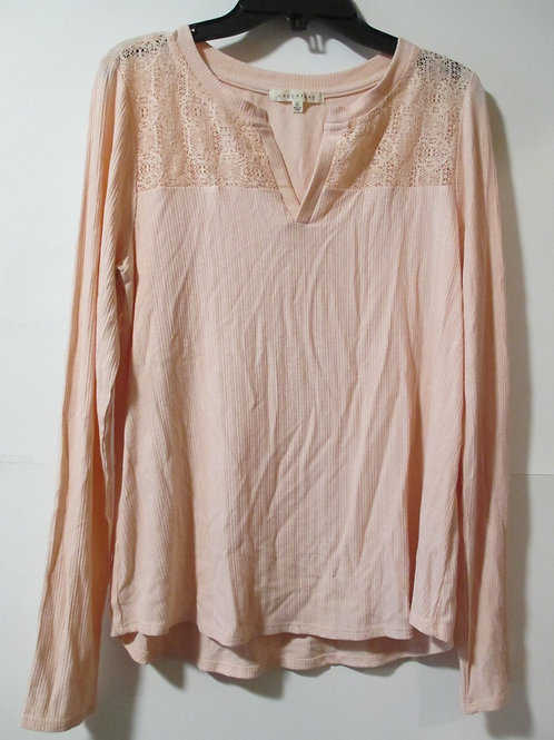 Juniors Copper Key Pink Long Sleeve Top