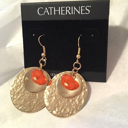 Women's Gold Drop Pierced Earrings