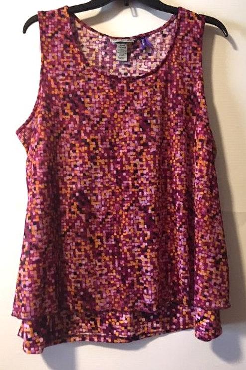 Women's Size  0X 14 16 Petite Purple Sleeveless Top