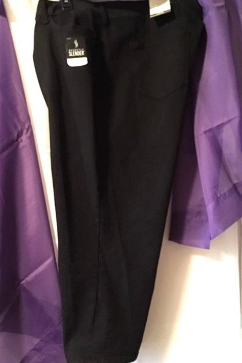 Women's Size 24W Black Mid Rise Capri
