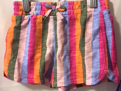 Toddler Girls Size 4T Multi Color Stripe Shorts