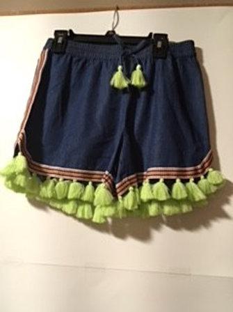 Girls Size XL Fringed Tassel Short