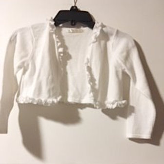 Girls Size 4 Used White Crop Sweater