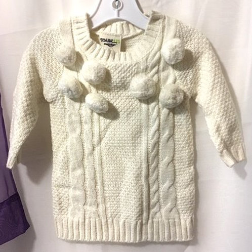 Baby Girls Size 12 Months Winter White Sweater