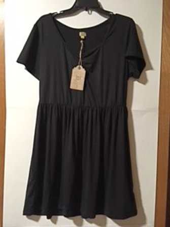 Womens Size 0X Black Curvy Dress