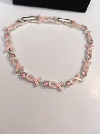 Ladies Breast Cancer Awareness Bracelet