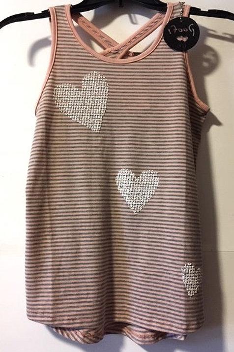 Girls Size Large Pink / Gray Sleeveless Top