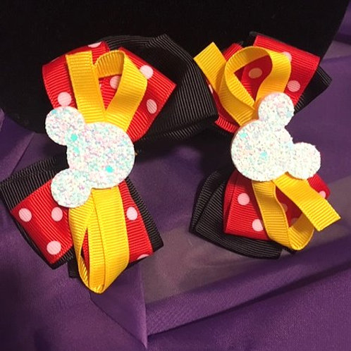 Mickey Mouse Clip Hairbow