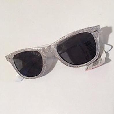 Ladies White Glitter Sunglasses