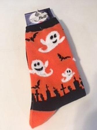 Ladies Halloween Ghost Socks