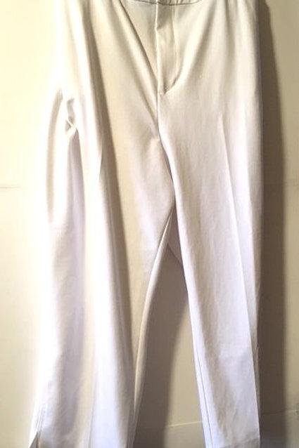 Womens Size 5X White Comfort Waist Slacks