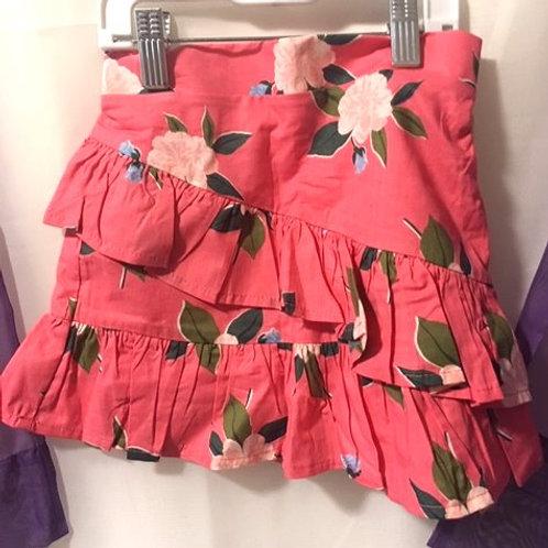 Girls Size 4 - 5 Coral Floral Skort
