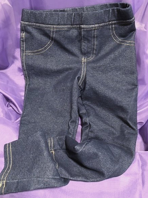 Toddler Girls Size 3T Used Denim Look Leggings