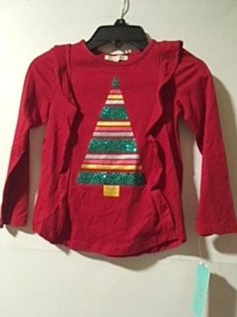 Toddler Girls Medium 4 Red Christmas Top