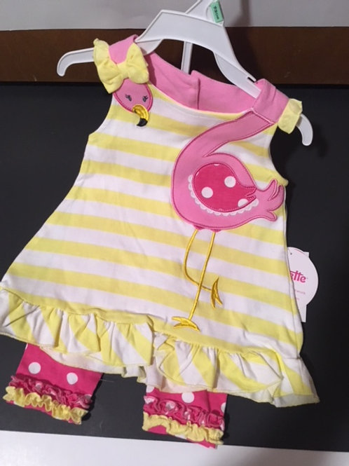Baby Girl Size 18 Month Capri Set