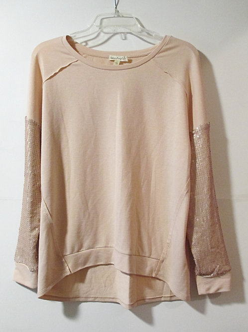 Ladies Size Small Pink Blush Long Sleeve Top