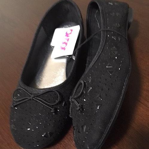 Girls Size 13 Black Rhinestone Slip On Josmo Shoes
