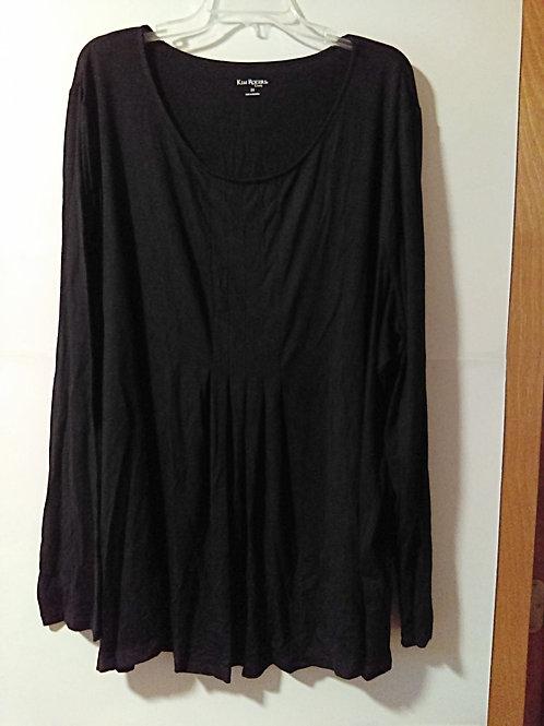 Womens Size 3X Black Long Sleeve Top