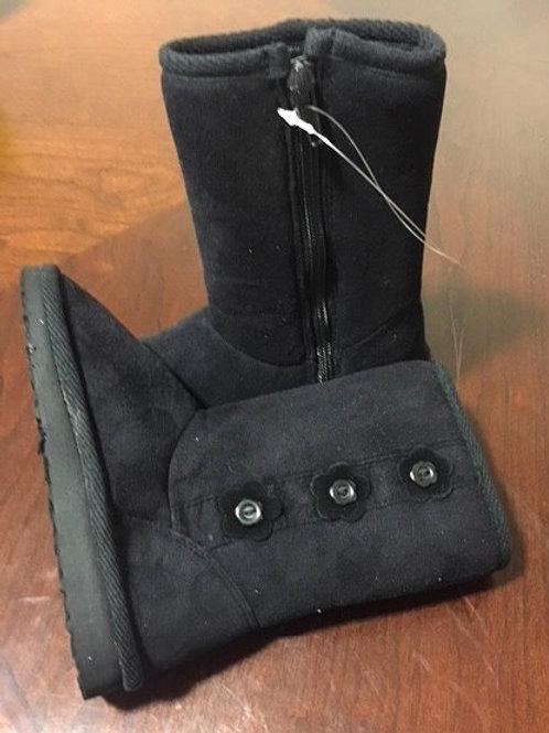 Toddler Girls Size 9 Black Zipper Mid Calf Boots