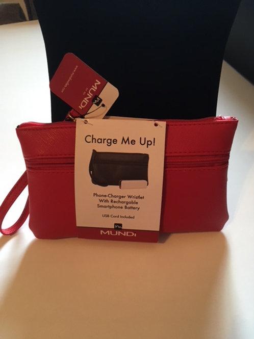 Ladies Mundi Red Phone Charger Wristlet