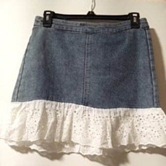 Girls Size Large Jean Skirt