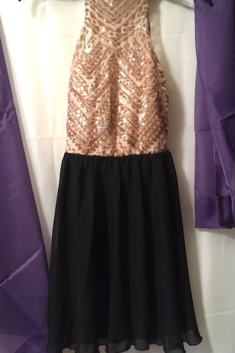Juniors Size 5 Black Blush Prom Special Occasion Dress