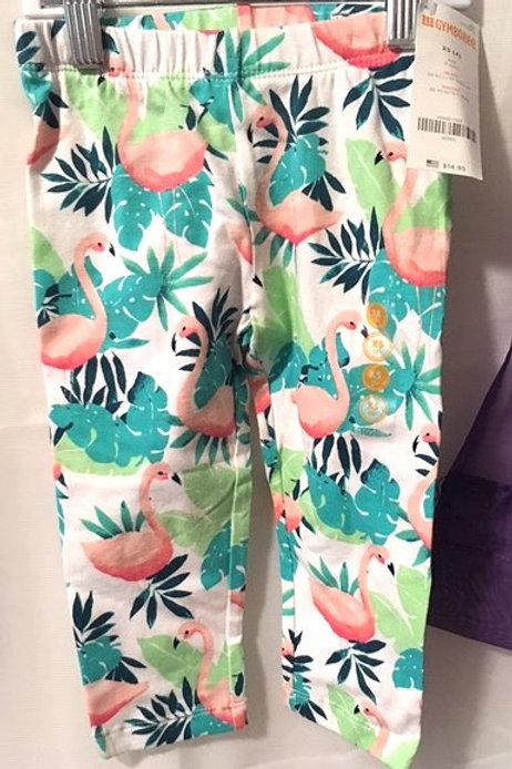 Girls Size XS - 4 Flamingo Capri Pants