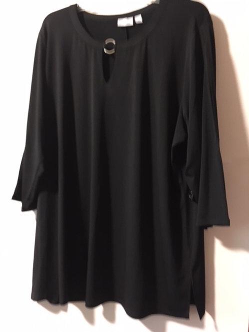 Womens Size 2X Black Tunic Top