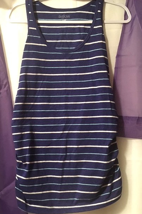 Maternity Size Small Blue Gathered Side Tank Top