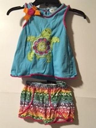 Toddler Girls Size 3T Used Shorts Set