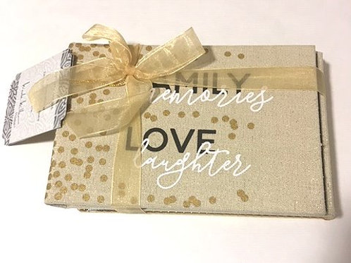 Two Pack Nicole Miller Gold & Taupe Gift Set Photo Albums