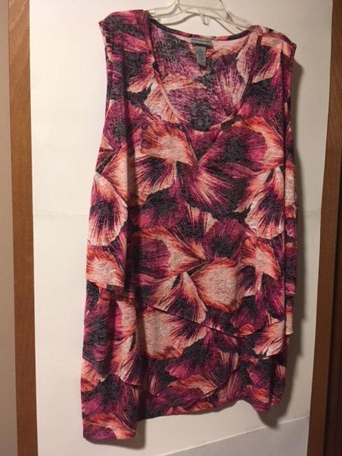Women's Size 5X Sleeveless Tunic Top