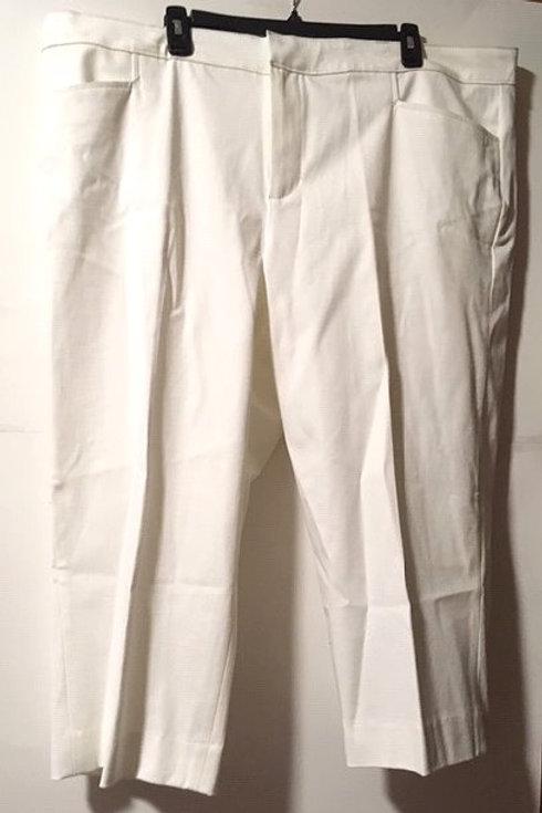 Women's Size 20 W White Slimming Capri Pants