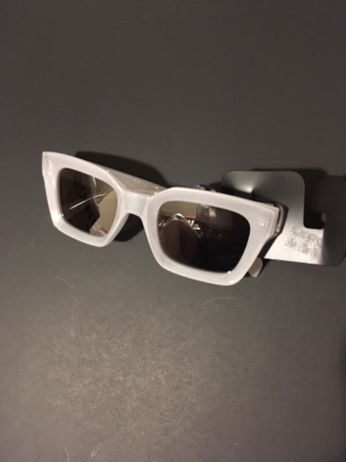Ladies White Frame Sunglasses