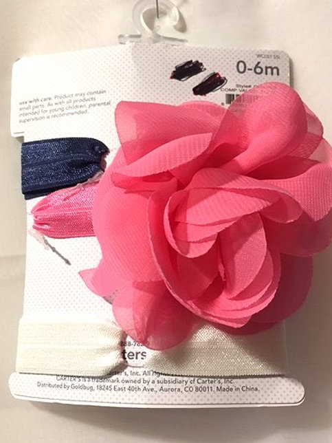 Baby Girls Size 0 - 6 Months 3 Pack Headwraps by Carter's