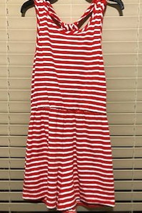GIRLS SIZE 14 LARGE RED WHITE ROMPER BY COPPER KEY